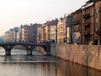 Sarajevo and miljacka river
