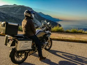 bmw r1200gs and the rider touring